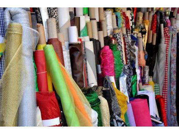 `N Verskeidenheid van patrone en teksture op `n stof winkel