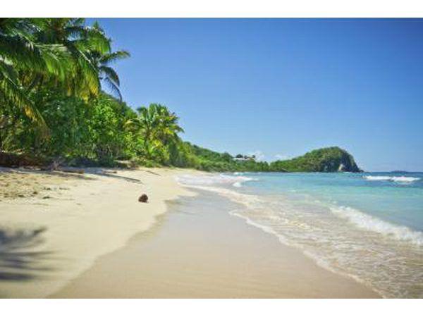 Beach in die Britse Maagde-eilande