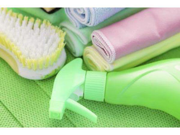 Groen skoonmaak produkte